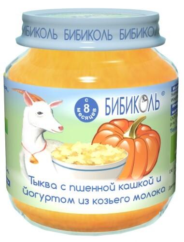 Купить Пюре овоще-молочное зерновое тыква с пшенной кашкой и йогуртом из козьего молока 125,0 цена