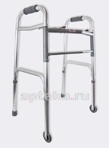 Купить Опоры-ходунки жесткие с 2 замками на 2х опорах и 2х колесах (75 мм) amw2b75 (amrus) цена