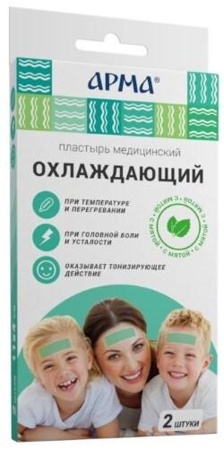 Купить Пластырь медицинский охлаждающий с мятой арма 11х4см n2 цена