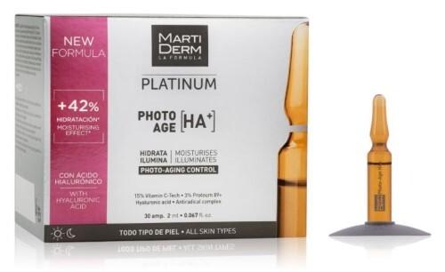 Купить Platinum ампулы коррекция фотостарения гиалуроновая кислота+ 2мл n10 цена
