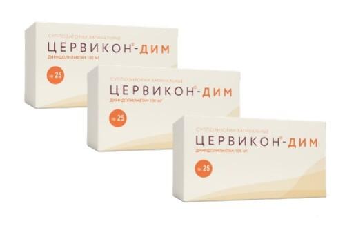 Купить Набор цервикон-дим 0,1 n25 супп ваг 3 уп. по специальной цене цена