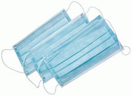 Купить Маска медицинская из нетканых материалов гекса нестерильная трехслойная на резинке n10/голубая цена