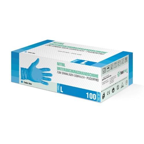 Купить Перчатки диагностические sf gloves нитриловые нестерильные неопудренные n50 пар l/синий цена