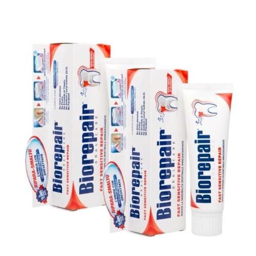 Набор Biorepair зубная паста Быстрое восстановление д/чувств зубов 75мл из 2-х шт