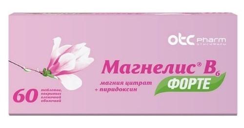 Купить МАГНЕЛИС В6 ФОРТЕ 0,1+0,01 N60 ТАБЛ П/ПЛЕН/ОБОЛОЧ цена