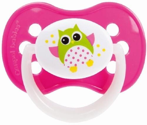 Купить Соска-пустышка силиконовая симметричная owl 6-18 розовый цена