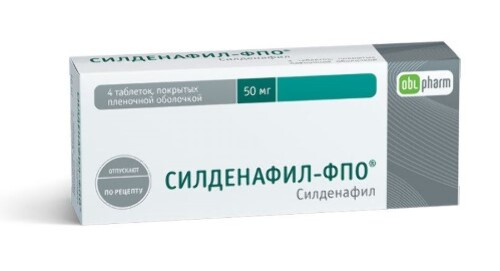 Купить Силденафил-фпо 0,05 n4 табл п/плен/оболоч цена