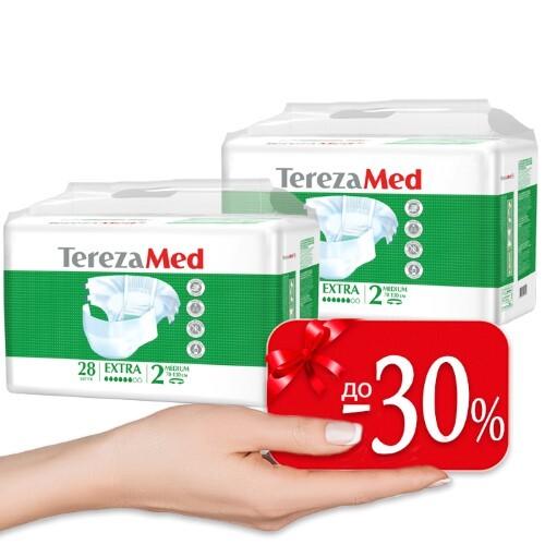 Купить Набор terezamed подгузники д/взр extra n28 /medium n2/ 2 уп по специальной цене цена