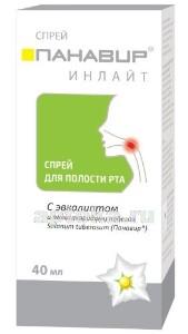 Купить Панавир инлайт спрей для полости рта с эвкалиптом 40мл цена