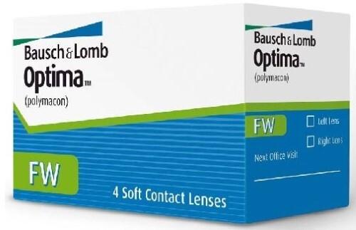 Купить BAUSCH&LOMB OPTIMA FW КОНТАКТНЫЕ ЛИНЗЫ ПЛАНОВОЙ ЗАМЕНЫ /-4,00/ N4 цена
