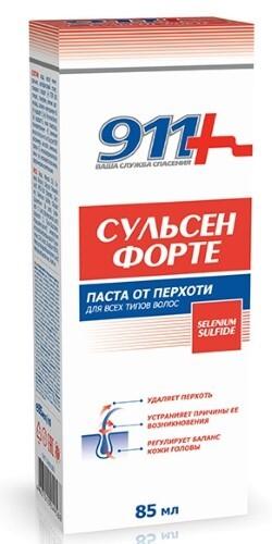 Купить 911 ПАСТА СУЛЬСЕН ФОРТЕ ОТ ПЕРХОТИ ДЛЯ ВСЕХ ТИПОВ ВОЛОС 85МЛ цена