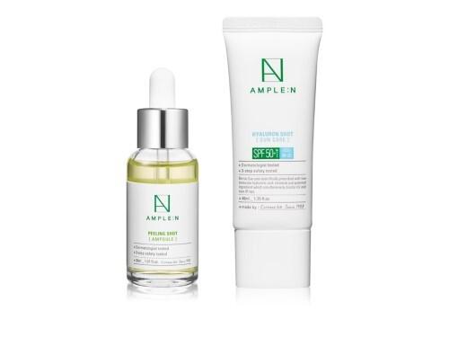 Набор AMPLEN с пилингом комплекса кислот для обновления кожи и SPF защиты - со скидкой 20%