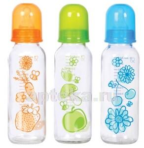 Купить Бутылочка стеклянная силиконовая соска 0+ 260мл/910 цена