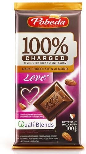Купить Шоколад темный с миндалем лав 100,0 цена