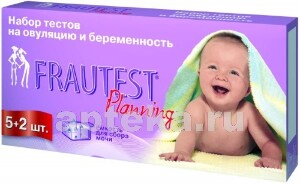 Купить Тест на овуляцию + беременность frautest planning n5+2 цена