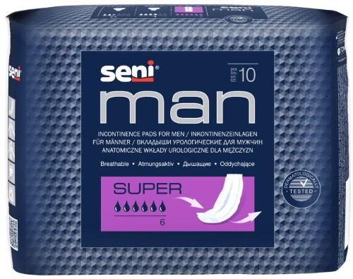 Купить Man super урологические прокладки/вкладыши для мужчин n10 цена