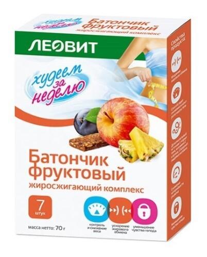 Купить Худеем за неделю батончик фруктовый жироcжигающий комплекс n7 пак цена