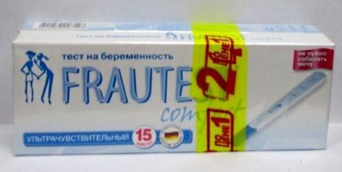 Тест для определения беременности frautest comfort /1+1/