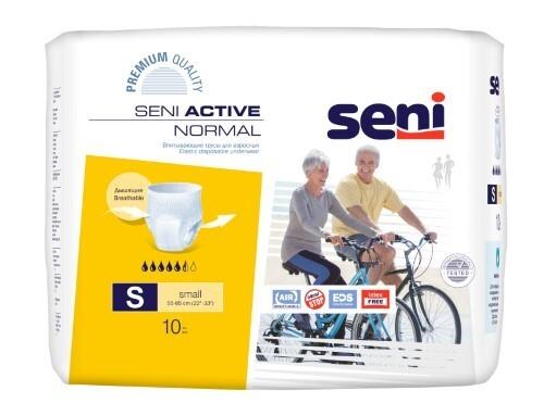 Купить SENI ACTIVE NORMAL ТРУСЫ ВПИТЫВАЮЩИЕ РАЗМЕР SMALL ОБХВАТ ТАЛИИ 55-85 N10 цена