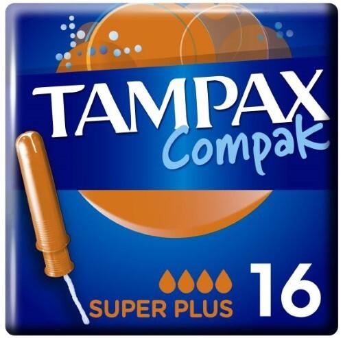 Купить TAMPAX ТАМПОНЫ COMPAK SUPER PLUS С АППЛИКАТОРОМ N16 цена