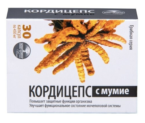 Кордицепс с мумие грибная серия