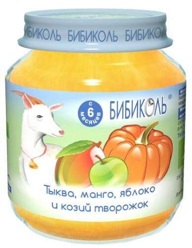 Купить Пюре фруктово-овощное-молочное тыква манго яблоко и козий творожок 125,0 цена