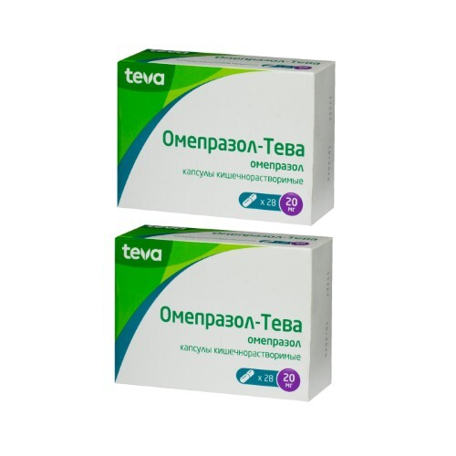 Купить Набор омепразол-тева 0,02 n28 капс кишечнораствор - 2 упаковки по специальной цене цена
