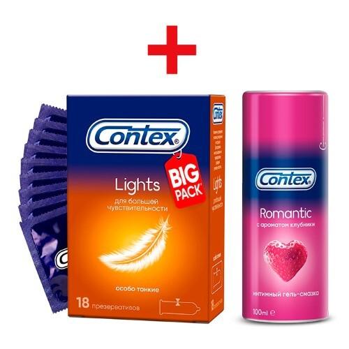Набор «романтиков»: презервативы и гель-смазка contex