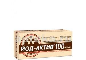 Купить ЙОД-АКТИВ 100 N60 ТАБЛ цена