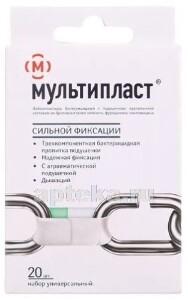 Купить Лейкопластырь бактерицидный мультипласт сильной фиксации n20 /белый цена