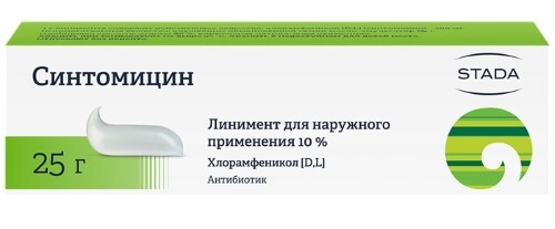 Купить Синтомицина 10% 25,0 линимент /нижфарм/ цена