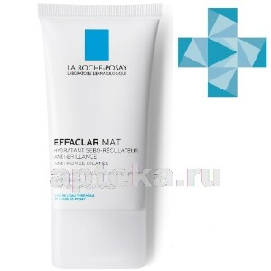 Купить Effaclar mat увлажняющая матирующая себорегулирующая эмульсия 40мл цена