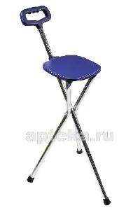 Трость amcs37 металлическая телескопическая со складным трехопорным стулом