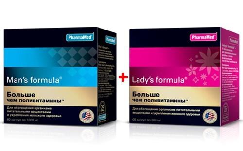 Купить Набор для нее и для него - леди-с формула больше чем п/витамины n60 капс + мен-с формула больше чем п/витамины n60 капс цена