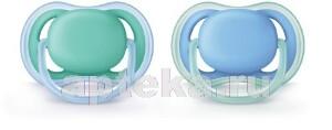 Avent пустышка силиконовая ultra air для мальчиков 6-18мес scf244/22 n2