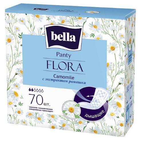 Купить Прокладки ежедневные panty flora camomile с экстрактом ромашки n70 цена