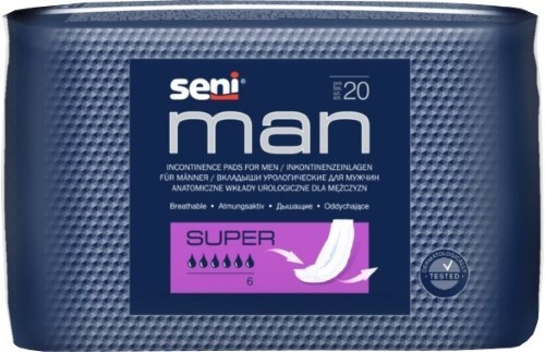 Купить Seni man super урологические прокладки/вкладыши для мужчин n20 цена