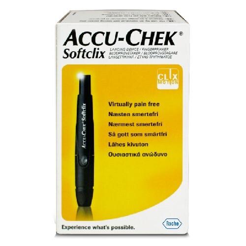 Купить Устройство акку-чек софткликс + 25 ланцетов для прокола цена