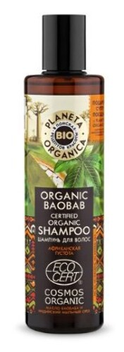 Купить Organic baobab шампунь для волос 280мл цена