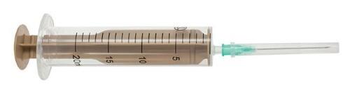 Купить Шприц 20мл двухдетальный 20б луер с иглой 0,8x40мм n440 /бежевый шток/ цена
