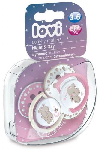Купить Соска-пустышка силиконовая night&day 3-6мес n2/для девочек цена