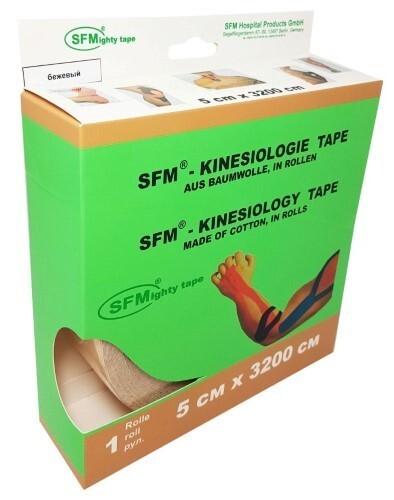 Купить Лента кинезиологическая sfm-plaster на хлопковой основе в рулоне 5х3200см n1/бежевый/кинезио тейп цена