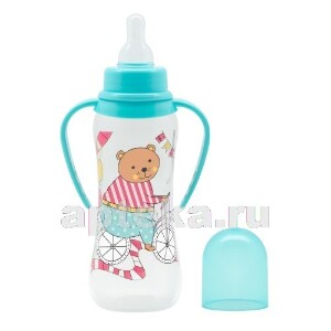 Купить Бутылочка с ручками силиконовая соска just lubby 0+ 250мл /15200 цена