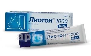 Купить ЛИОТОН 1000 1000МЕ/Г 30,0 ГЕЛЬ Д/НАРУЖ ПРИМ цена