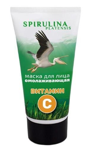 Купить Спирулина-фитосила маска для лица омолаживающая с витамином с 150мл цена