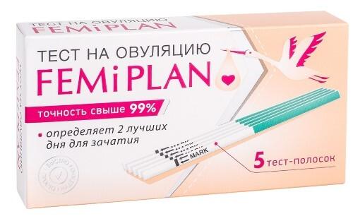 Купить Тест для определения овуляции femiplan n5 цена