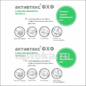 Купить Фхф салфетка антимикробная с фурагином и маслом эвкалипта 10х10см n10 цена