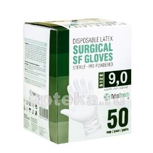 Купить Перчатки медицинские хирургические-sf латексные стерильные опудренные текстурированные n50 пар/размер 7,0 цена