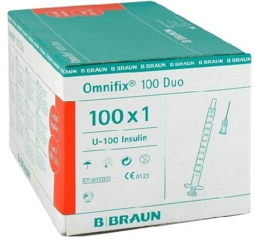 Omnifix шприц инсулиновый оптификс дуо 100 3-х компонентный 1мл n100 u-100