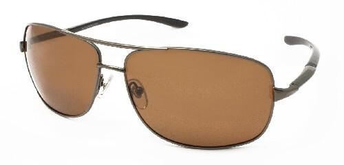 Купить Очки поляризационные мужские металл коричневая линза/сf919 цена